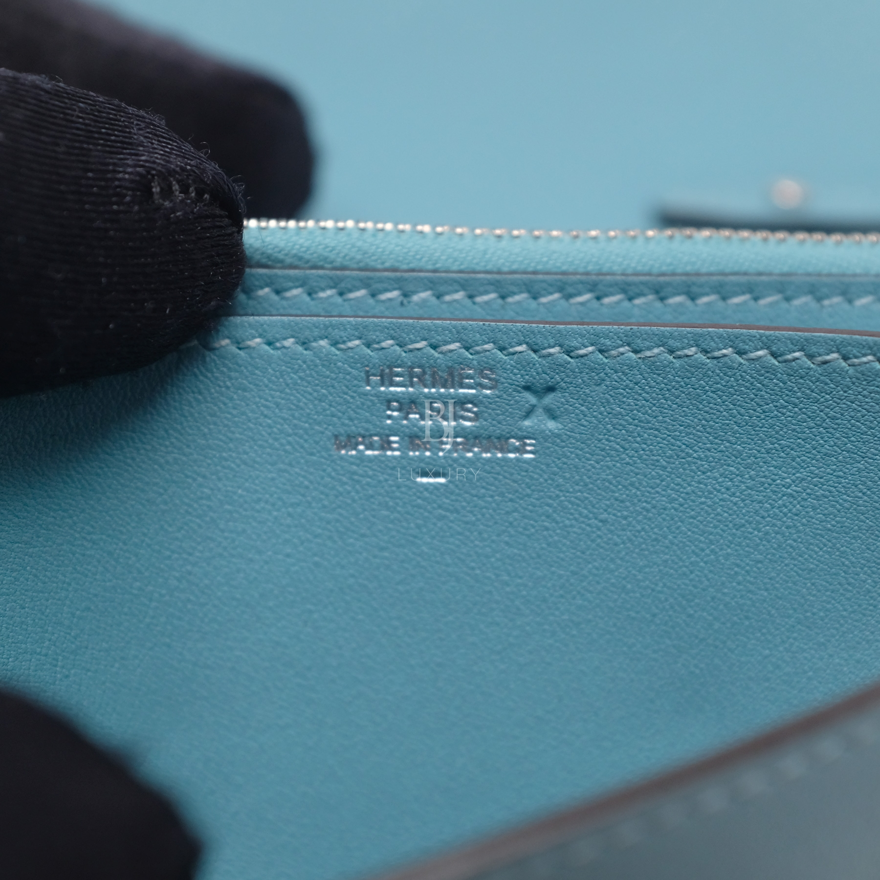Hermes Conveyor Bag 16 Turquoise Swift Lizard Palladium BJ Luxury 14.jpg