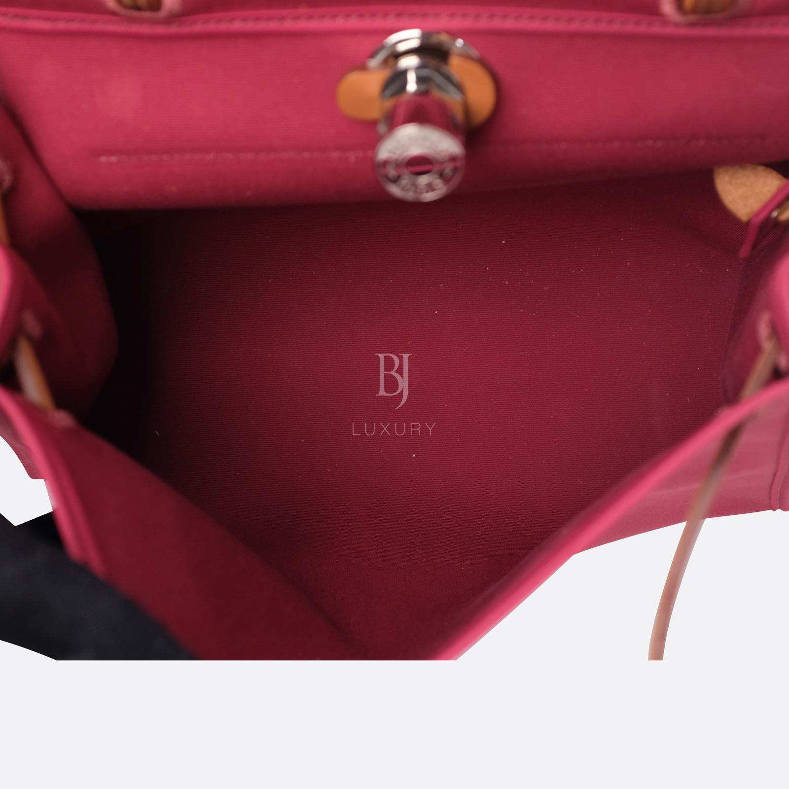 Hermes Herbag 31 Rubis Canvas Vache Palladium BJ Luxury 17.jpg