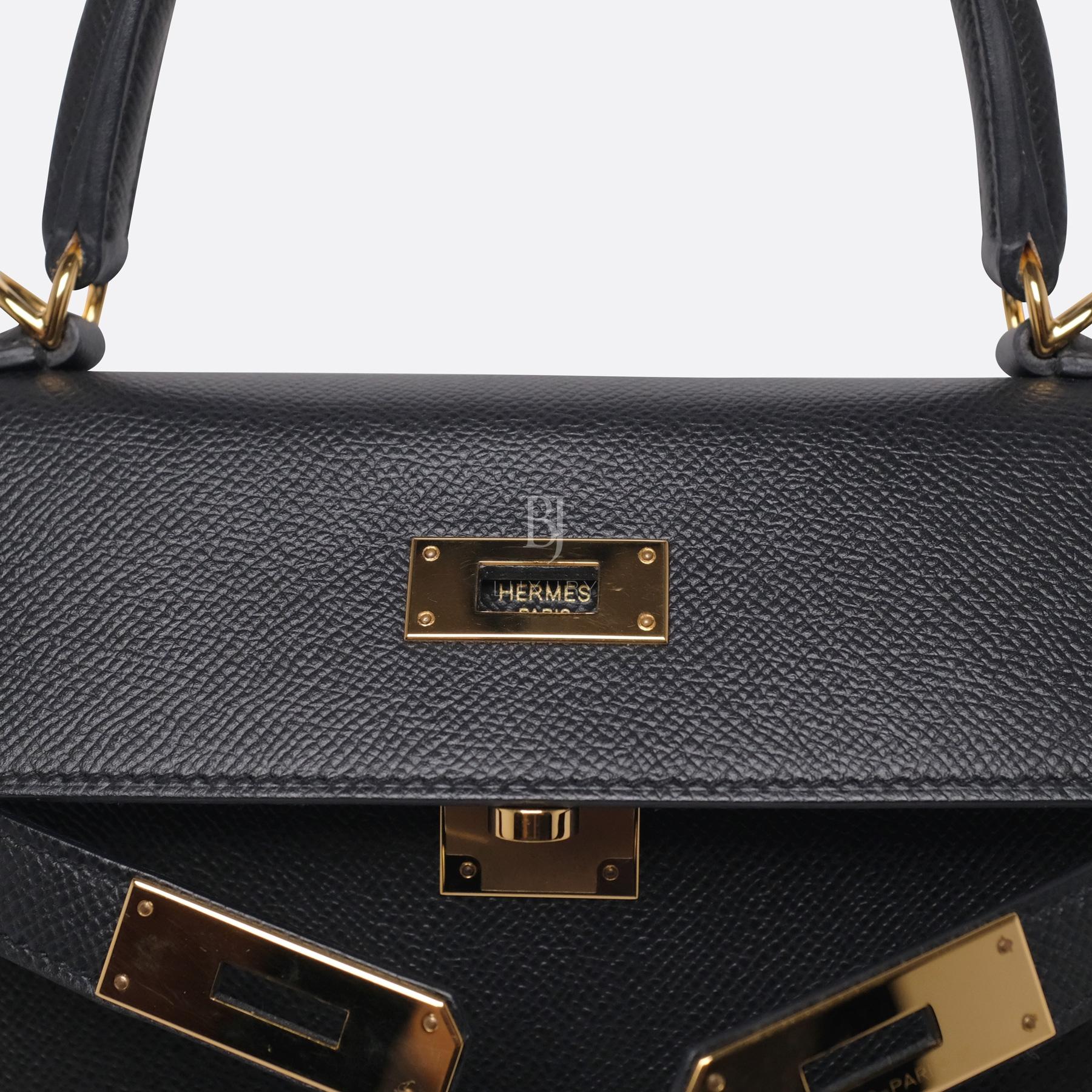 Hermes Kelly Sellier 28 Black Epsom Gold BJ Luxury 1.jpg