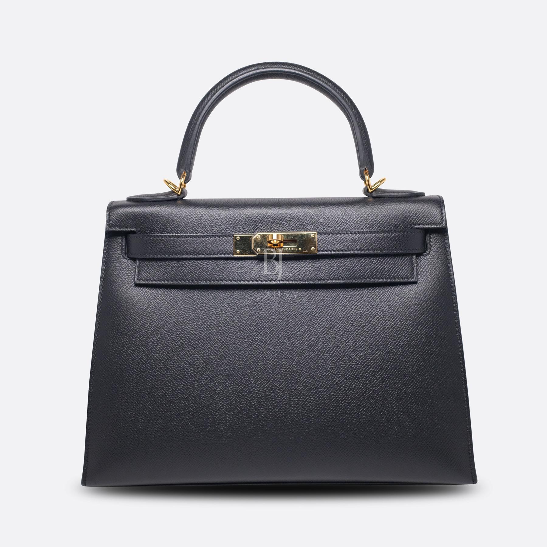Hermes Kelly Sellier 28 Black Epsom Gold BJ Luxury 10.jpg