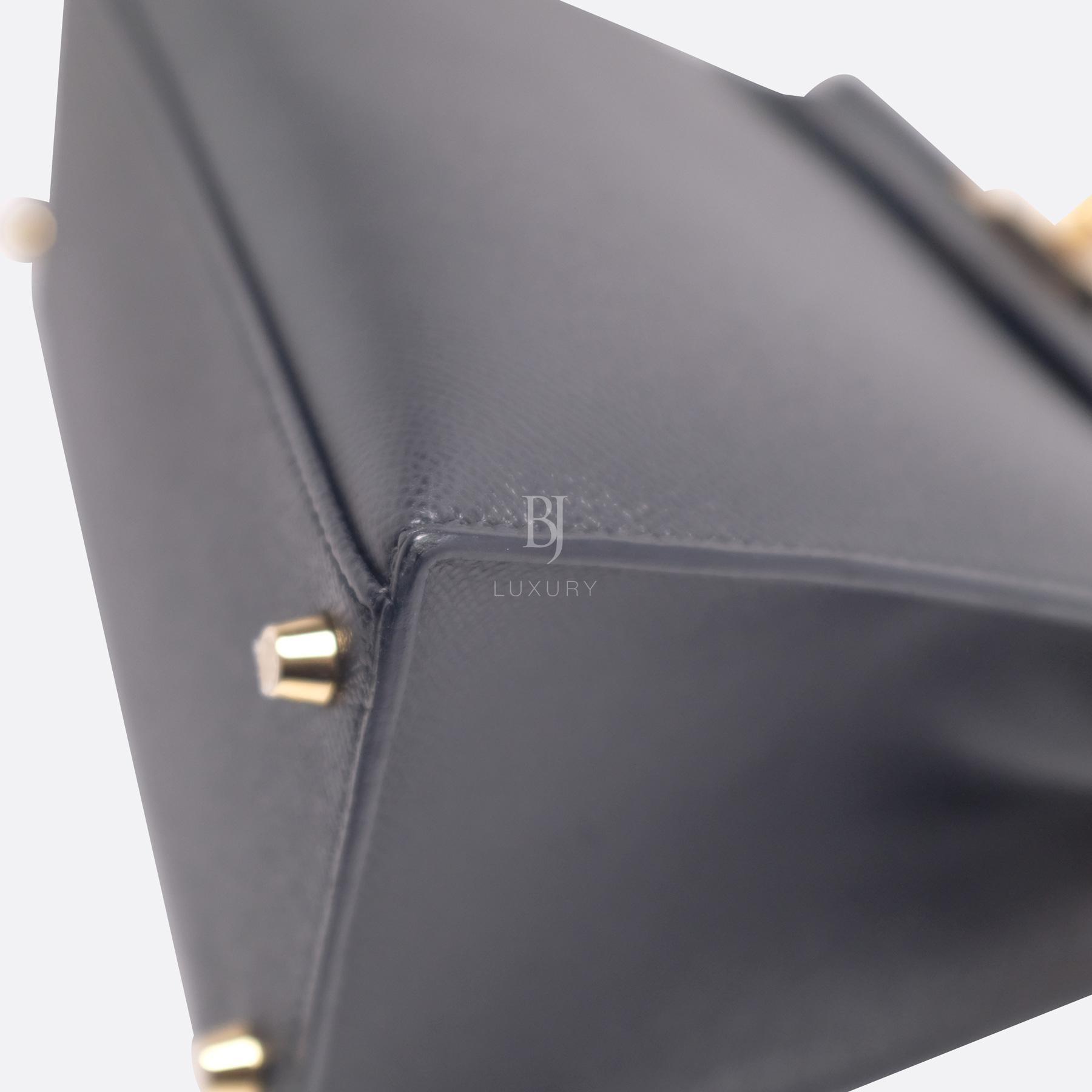 Hermes Kelly Sellier 28 Black Epsom Gold BJ Luxury 17.jpg