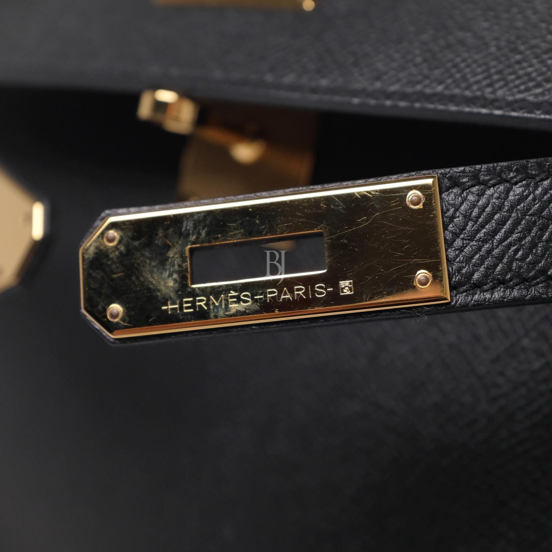 Hermes Kelly Sellier 28 Black Epsom Gold BJ Luxury 2.jpg