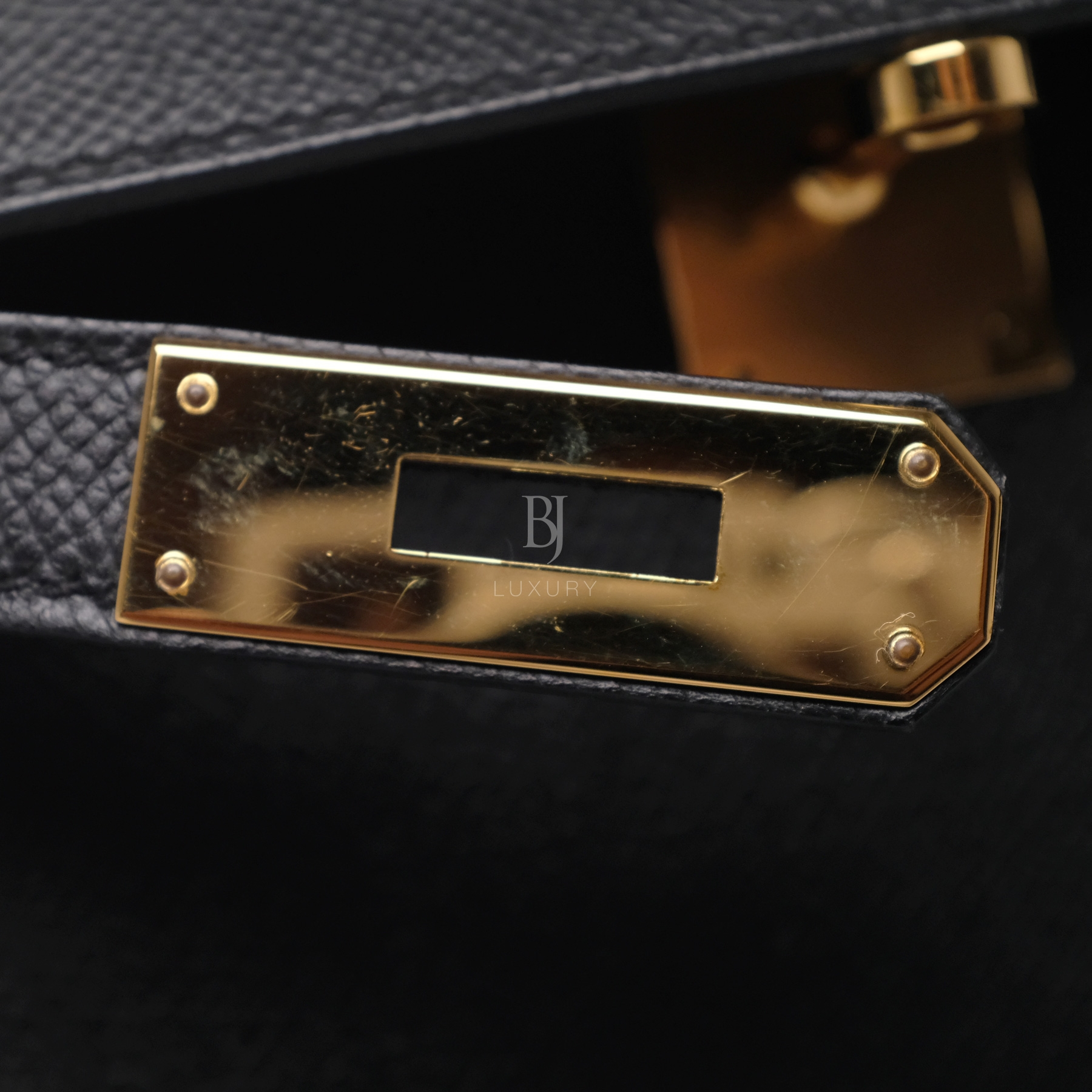 Hermes Kelly Sellier 28 Black Epsom Gold BJ Luxury 3.jpg