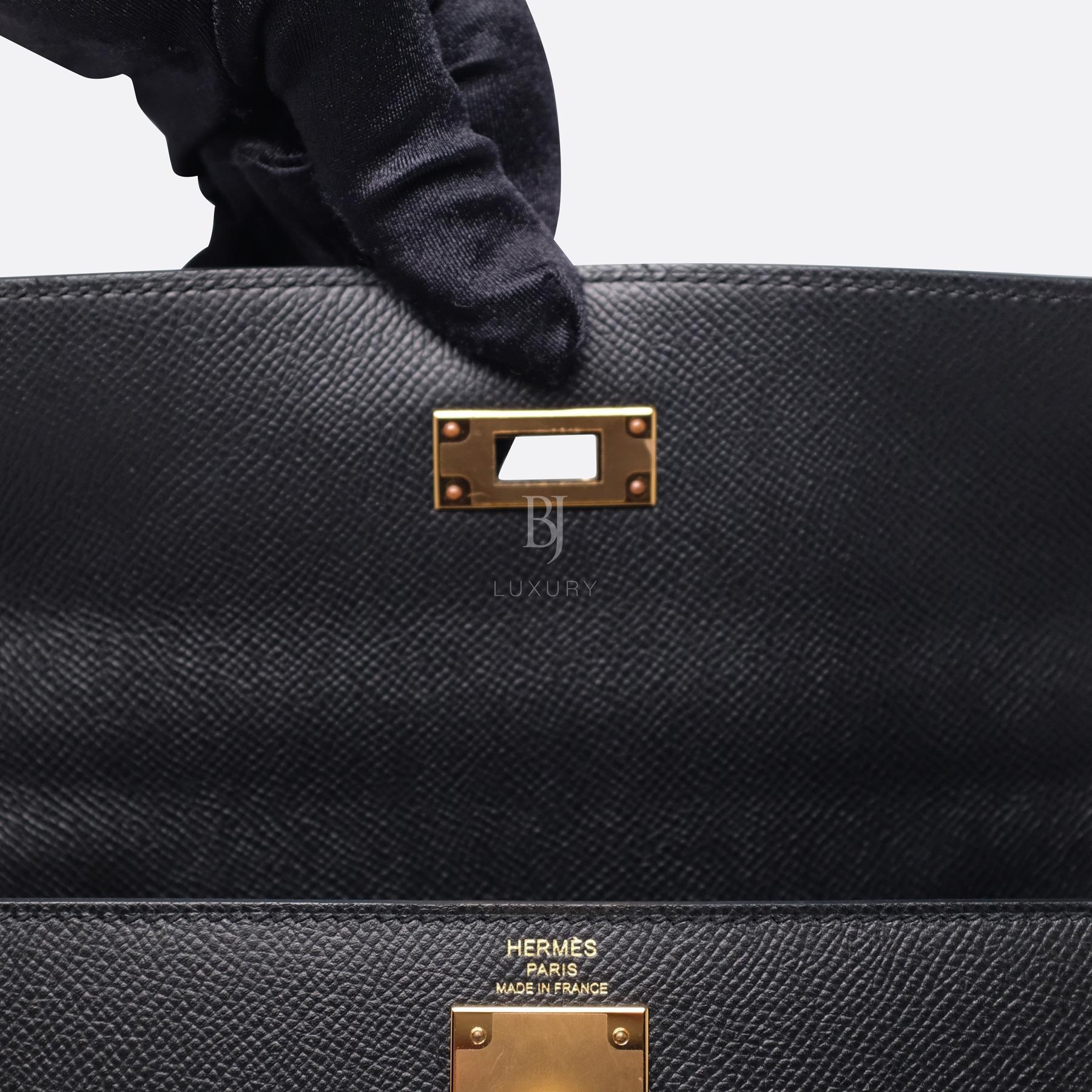 Hermes Kelly Sellier 28 Black Epsom Gold BJ Luxury 5.jpg