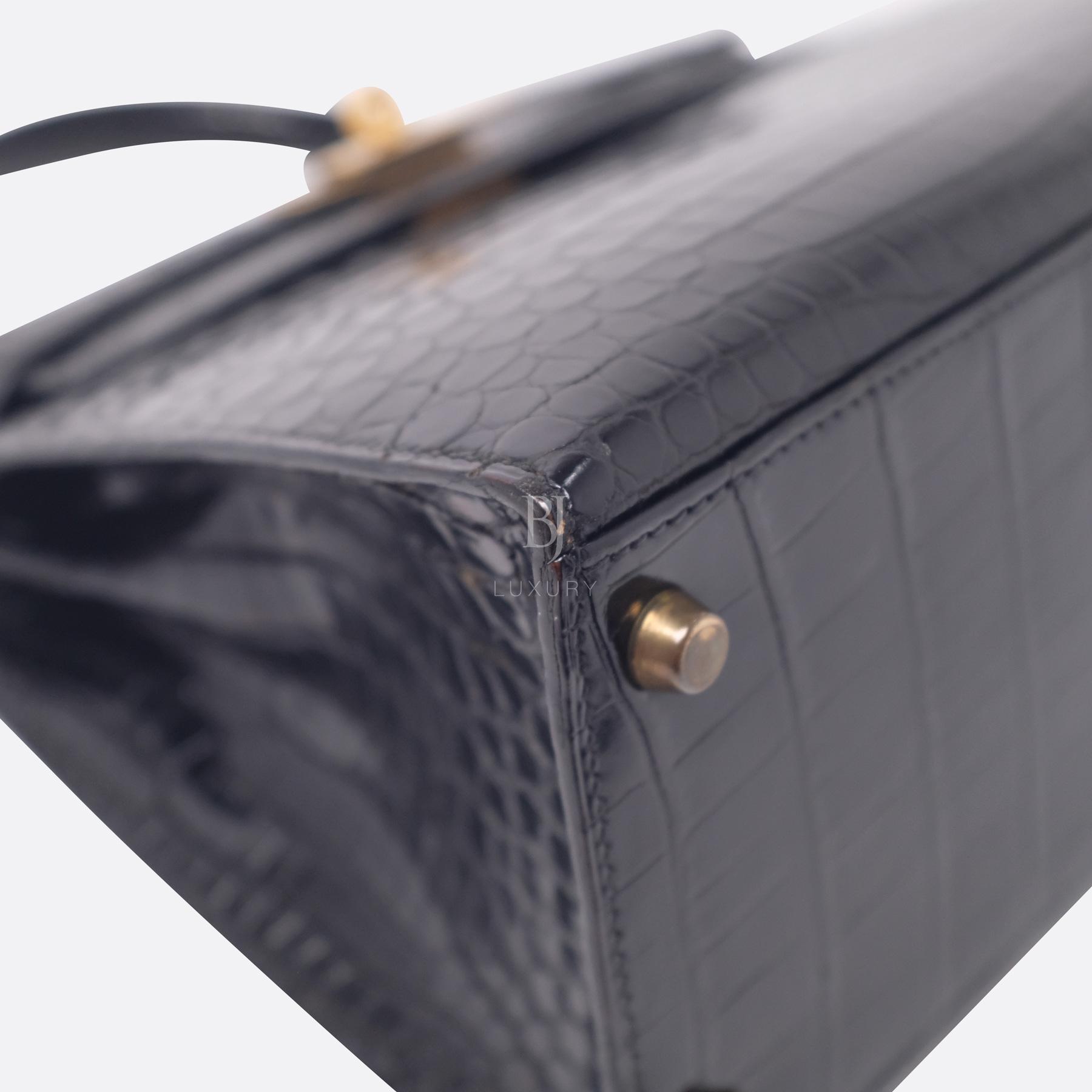 Hermes Kelly Sellier 28 Gold Black Porosus Crocodile BJ Luxury 7.jpg
