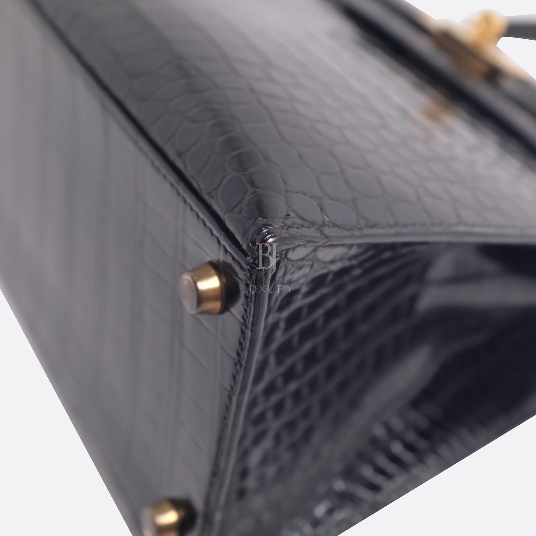 Hermes Kelly Sellier 28 Gold Black Porosus Crocodile BJ Luxury 8.jpg
