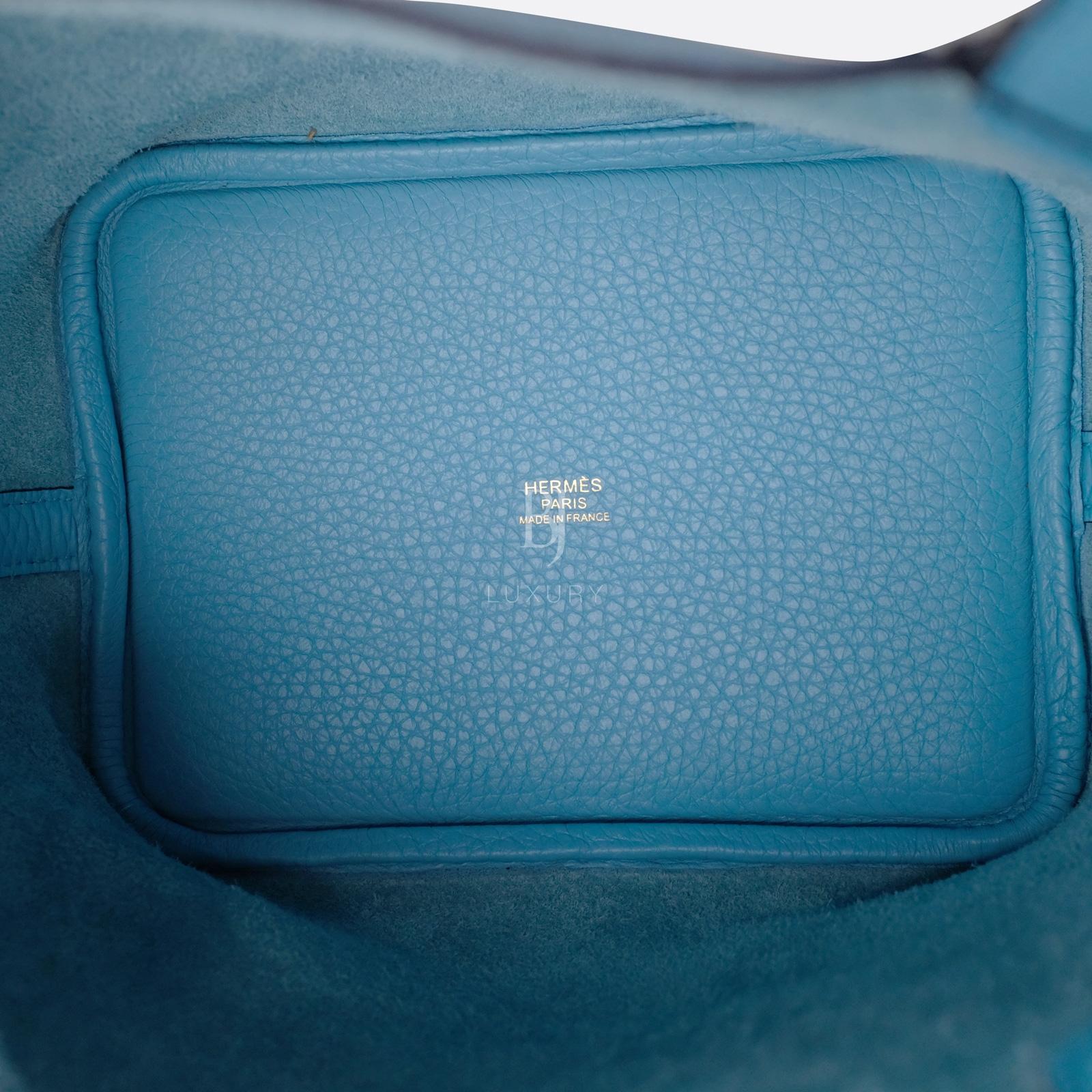 Hermes Picotin 18 Bleu Du Nord Clemence Gold BJ Luxury 11.jpg