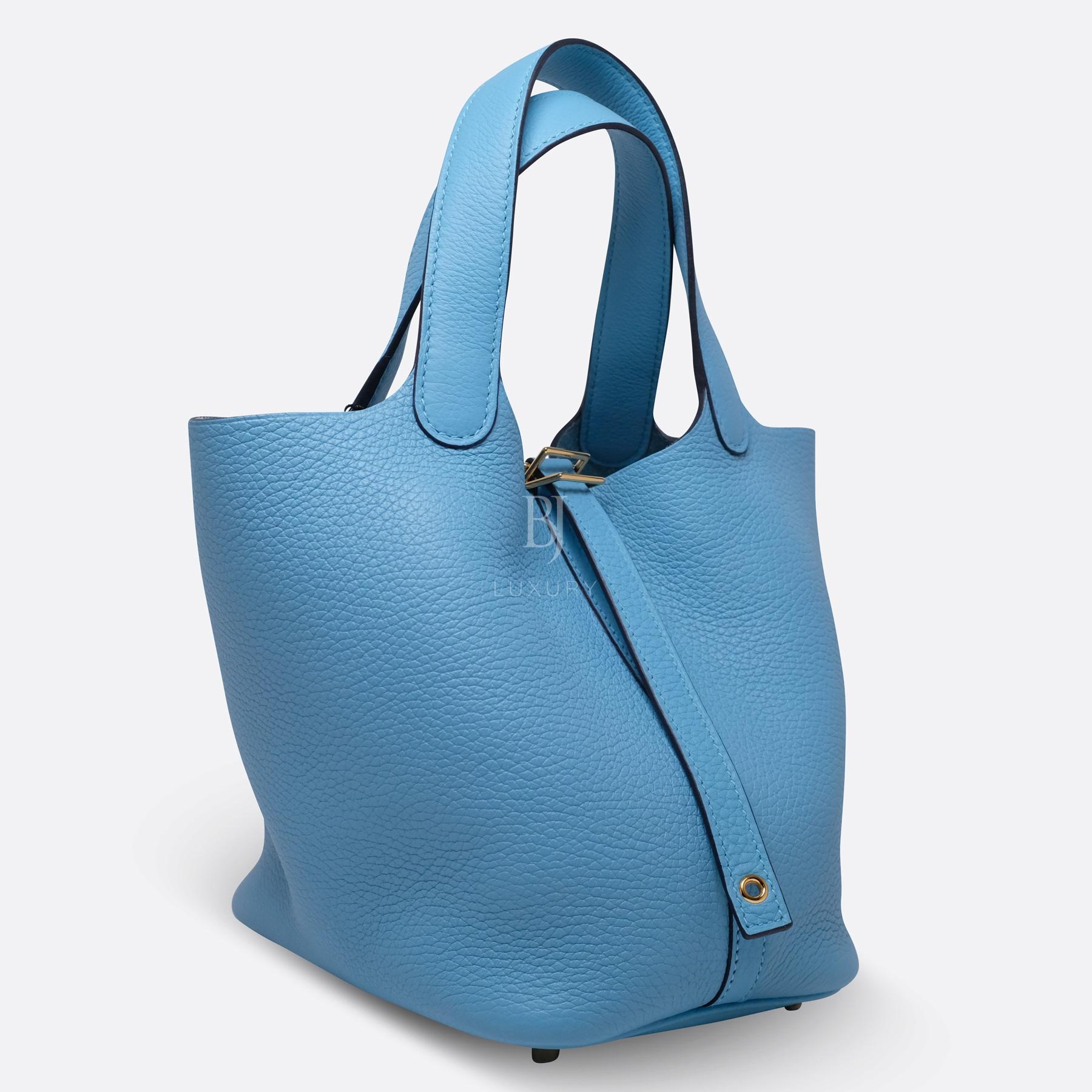Hermes Picotin 18 Bleu Du Nord Clemence Gold BJ Luxury 2.jpg