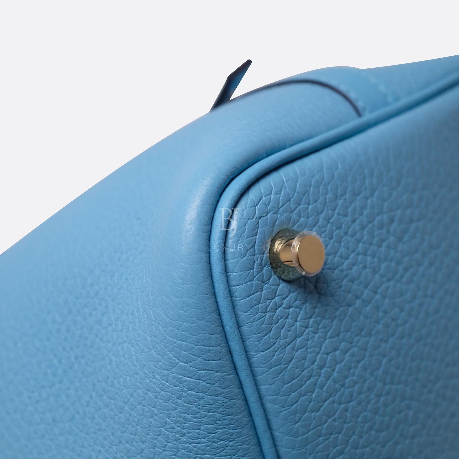 Hermes Picotin 18 Bleu Du Nord Clemence Gold BJ Luxury 7.jpg