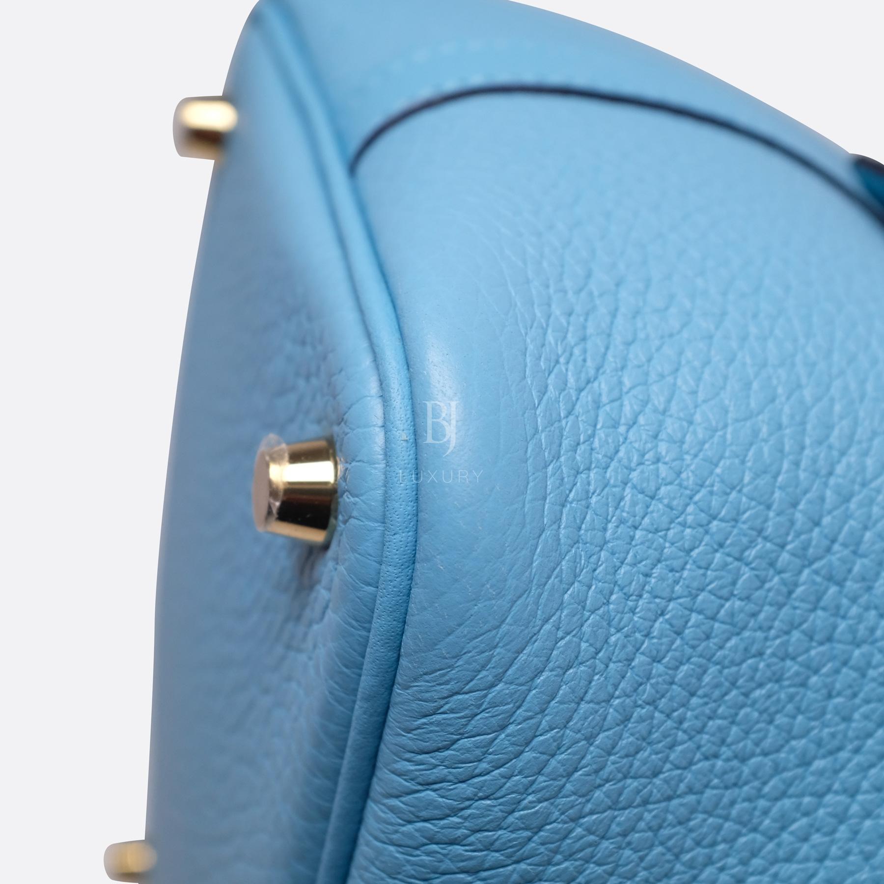Hermes Picotin 18 Bleu Du Nord Clemence Gold BJ Luxury 8.jpg