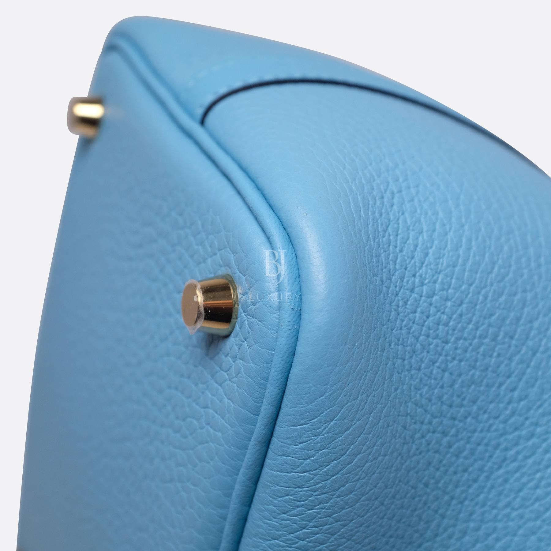 Hermes Picotin 18 Bleu Du Nord Clemence Gold BJ Luxury 9.jpg