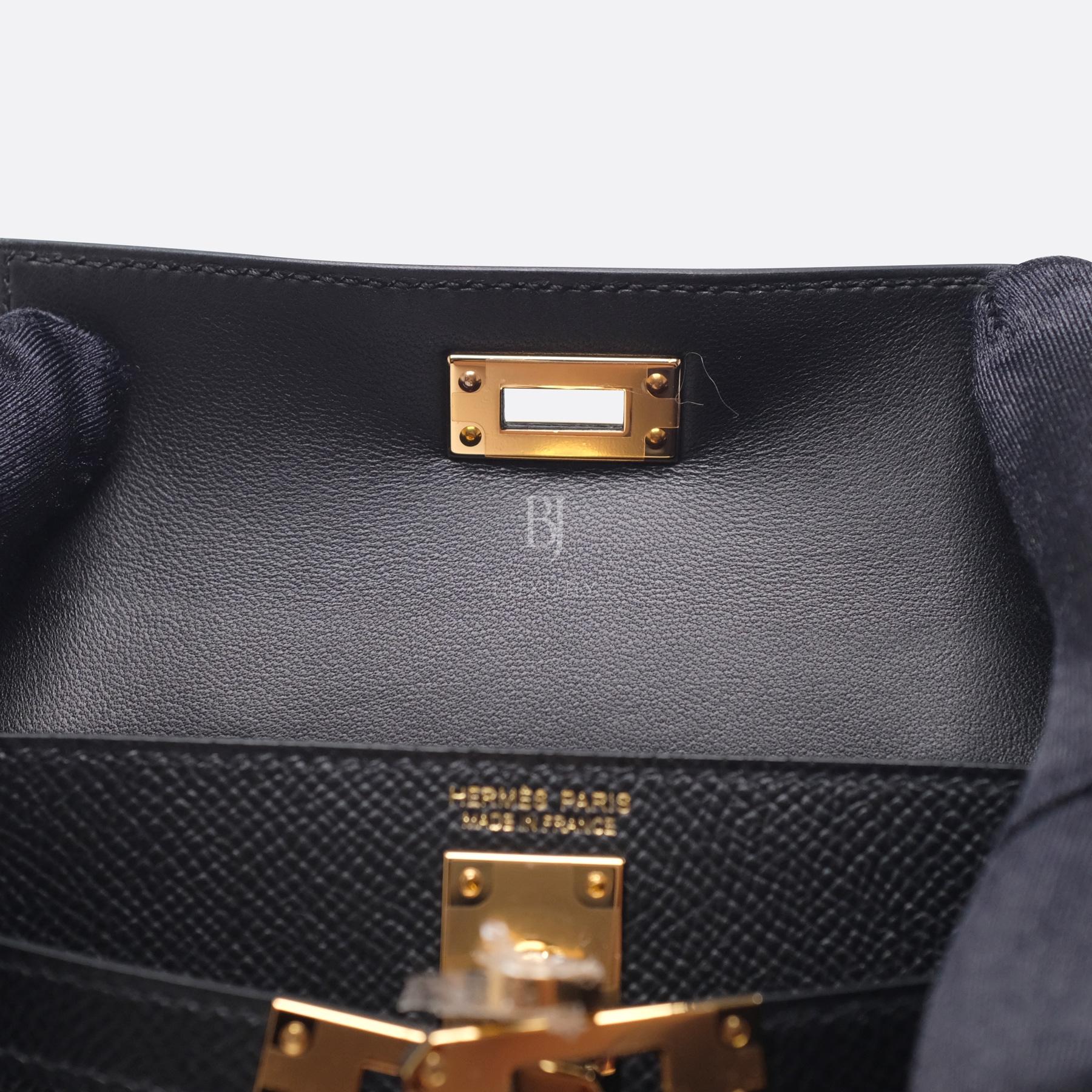 Hermes Kelly Sellier 20 Black Gold Hardware Epsom 15 BJ Luxury.jpg